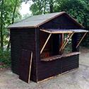 Zum ersten Mal eine Glühweinhütte in Wersten.